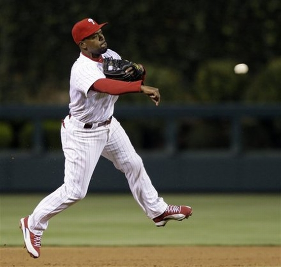 Air Jordan XII: Jimmy Rollins Red/White PE Cleat