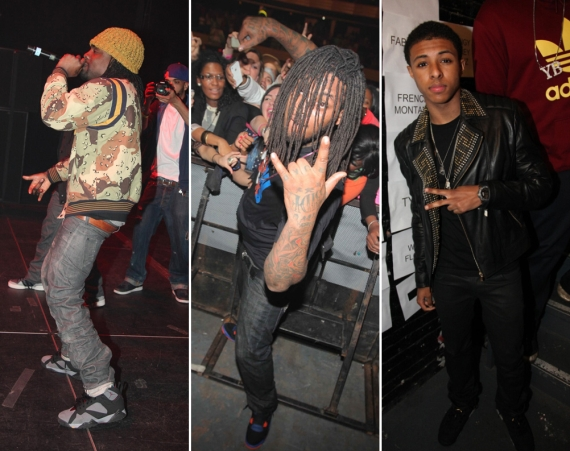 Diggy Simmons, Waka Flocka, and Wale in Air Jordans @ DJ Prostyle Birthday Bash