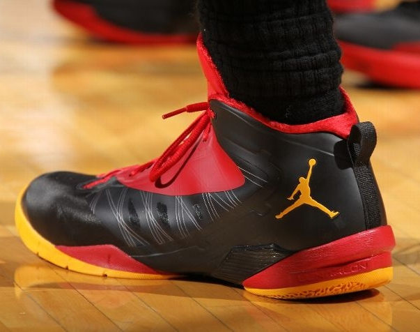 sports shoes 38a95 6f35f Almost as fiery as Dwyane Wade s courtside exchange with Heat head coach  Erik Spoelstra in their defeat last night against the Pacers were his PE  sneaks.