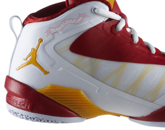 Jordan Fly Wade 2 EV: White   Red   Yellow