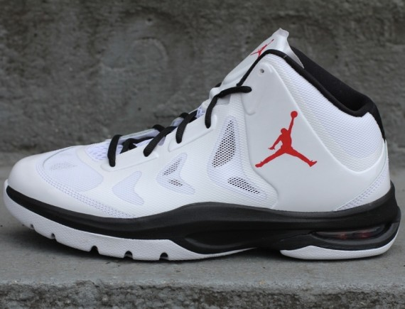 Jordan Play In These II: White   Varsity Red   Black