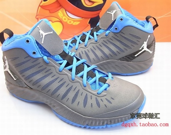 Jordan Super Fly: Grey  University Blue