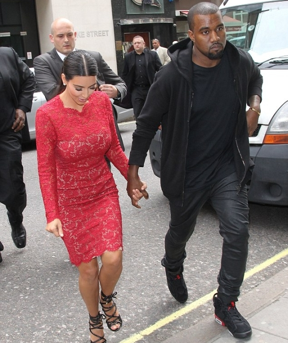 Kanye West Wears Air Jordan VI Infrared in London