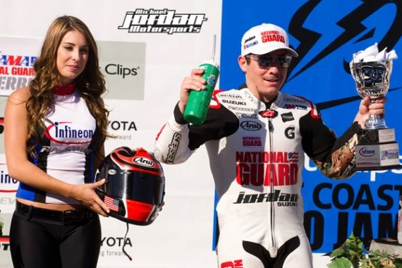Michael Jordan Motorsports On The Podium At Infineon AMA Pro