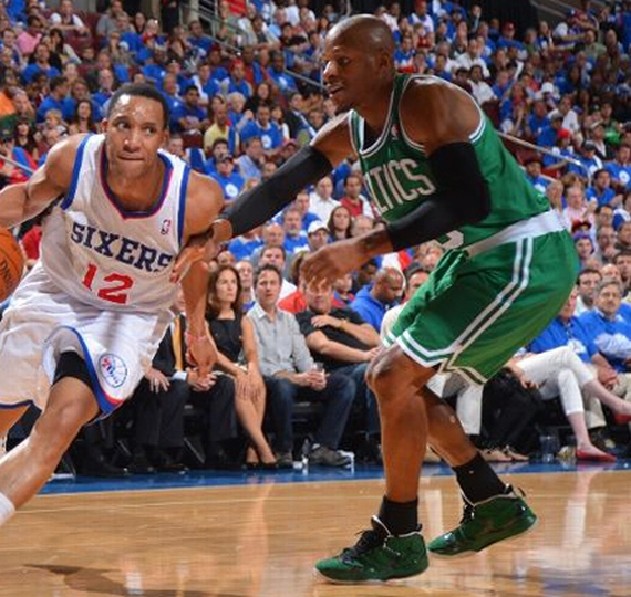 NBA Jordans on Court: Ray Allen Air Jordan 2012 Away PE