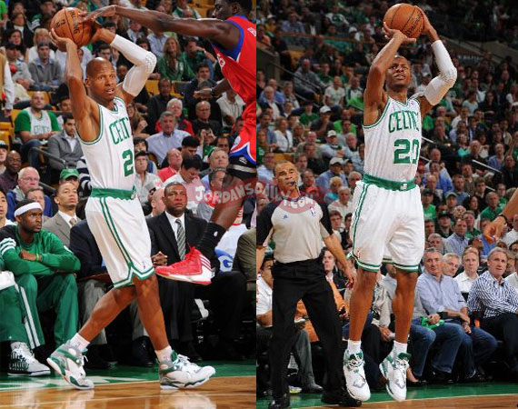 Ray Allen Wears Air Jordan VIII PE For Game 2