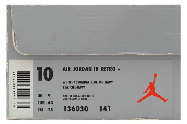 8519bc46330cb1 The Daily Jordan  Air Jordan IV - White - Columbia Blue - Midnight Navy -  1999 - Air Jordans