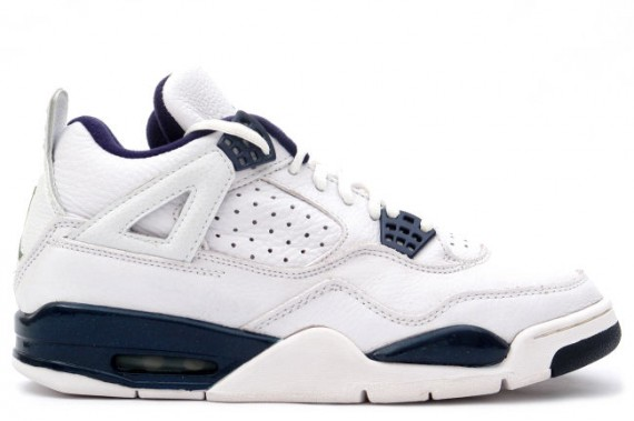 The Daily Jordan: Air Jordan IV   White   Columbia Blue   Midnight Navy   1999