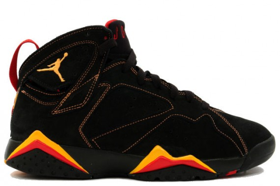 The Daily Jordan: Air Jordan VII   Black   Citrus   Varsity Red   2006