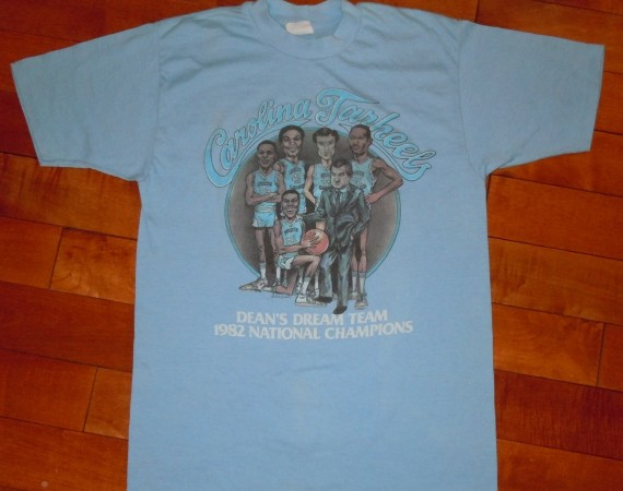 Vintage Gear: Carolina Tarheels 1982 NCAA Champions T Shirt
