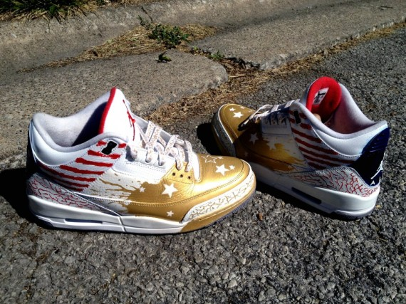 Air Jordan III: Dave White Customs by DeJesus