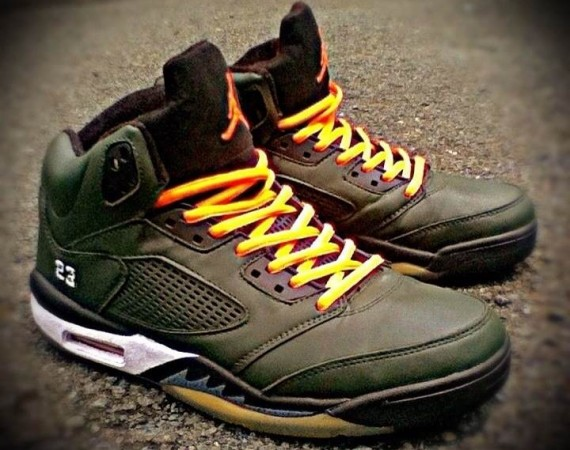 Air Jordan V: UNDFTD Customs by BNGK