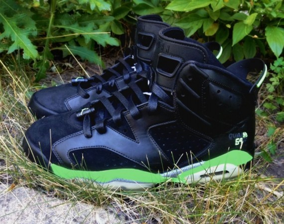 Air Jordan VI: Black Quai Customs by DeJesus