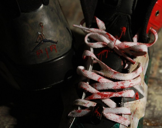 Air Jordan VI: Jason Voorhees Customs by El Cappy