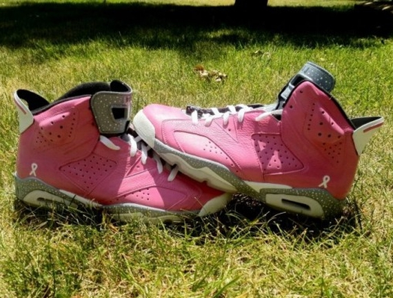 "Air Jordan VI: ""Think Pink"" Customs by DeJesus"