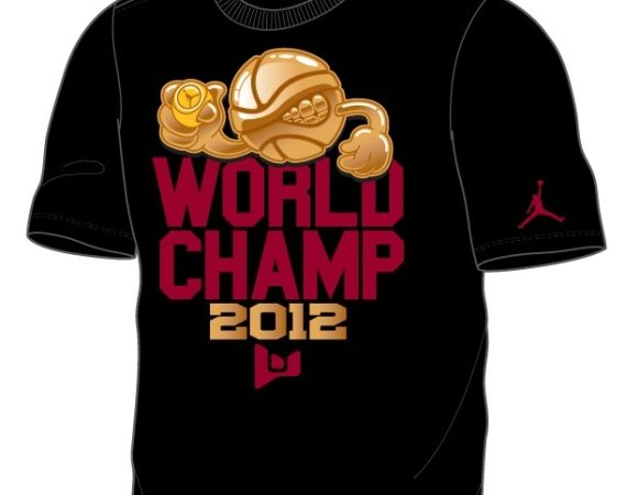 Jordan Brand Dwyane Wade World Champ 2012 T Shirt
