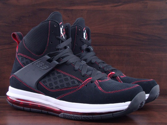 Jordan Flight 45 High Max: Black   Gym Red   White