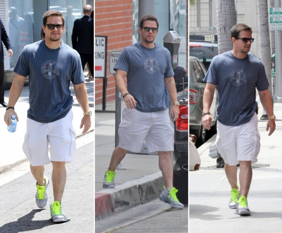 Mark Wahlberg Wears Air Jordan 2012 Wolf Grey