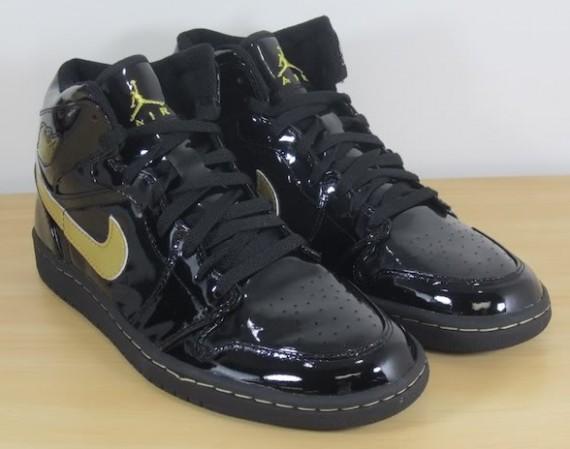 Air Jordan 1 Black Gold Patent