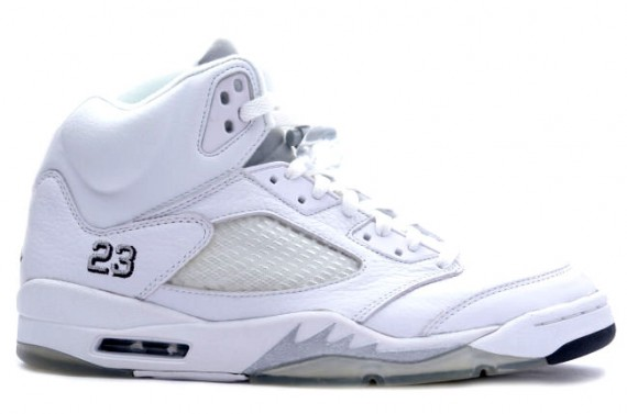 The Daily Jordan: Air Jordan V   White   Metallic Silver   Black   2000