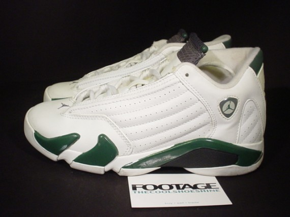 The Daily Jordan: Air Jordan XIV   White   Forest Green   2005