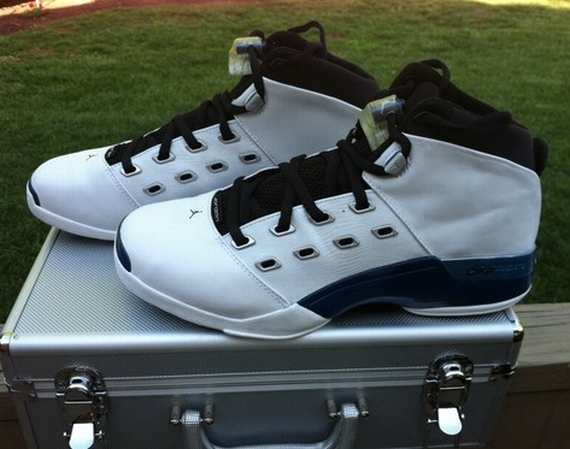 The Daily Jordan: Air Jordan XVII   White   College Blue   Black   2002