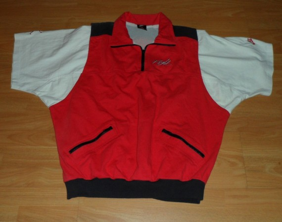 Vintage Gear: Air Jordan Short Sleeve Zip Up Shirt