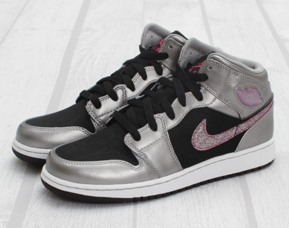 Air Jordan 1 Phat GS: Matte Silver   Berry