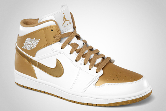 Air Jordan 1 Phat: White  Metallic Gold