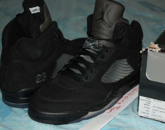 Air Jordan V: All Black Sample