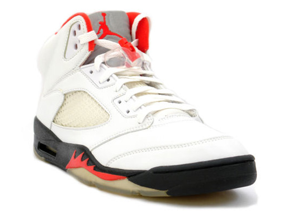 Air Jordan V: White   Black   Fire Red | Release Date
