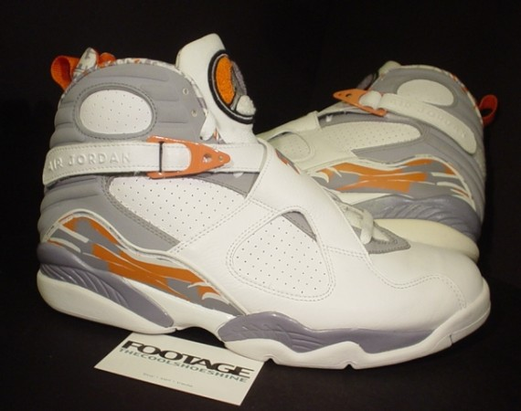 The Daily Jordan: Air Jordan VIII   White   Orange Blaze   2007