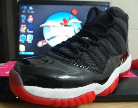 Air Jordan XI: Black   Varsity Red   White