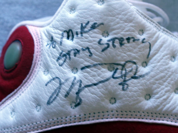 Air Jordan XIII: Autographed Game Worn Pair for Mike Tyson