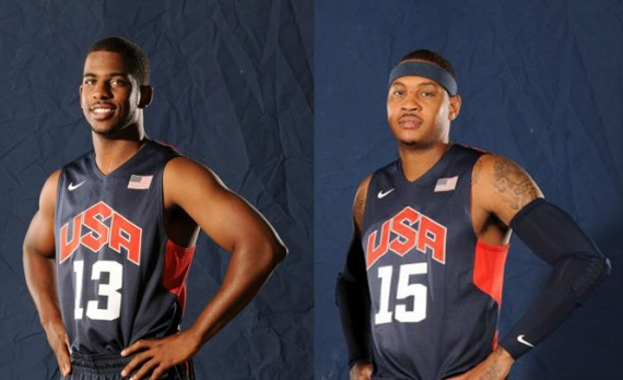 Carmelo Anthony and Chris Paul @ Team USA Basketball Media Day