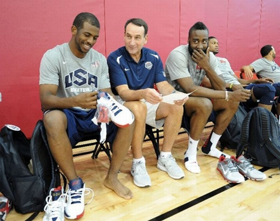 Carmelo Anthony and Chris Paul @ USA Basketball Practice in Las Vegas