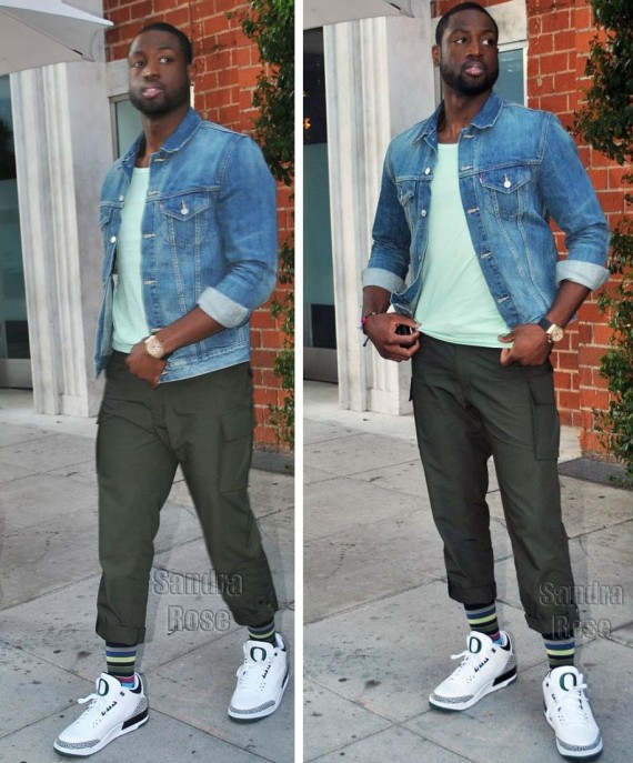 Dwyane Wade Wearing Air Jordan III Oregon