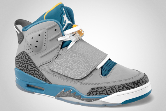 Jordan Son of Mars: Stealth   White   Shaded Blue   University Gold