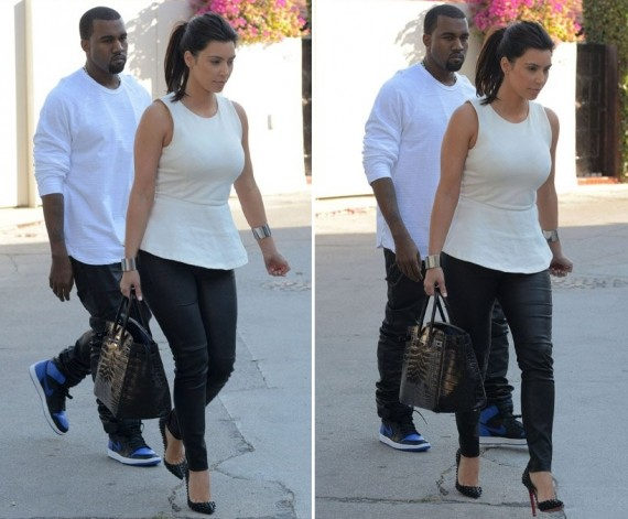 Kanye West Wears Air Jordan 1 Black/Royal