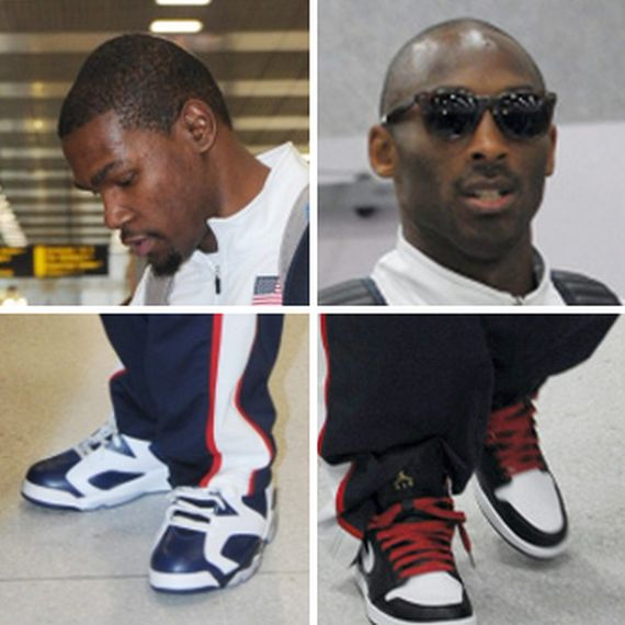 Kobe Bryant & Kevin Durant Arrive in UK Wearing Air Jordans