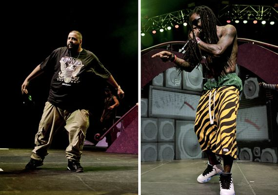 DJ Khaled and Lil Wayne Wearing Air Jordans On Stage