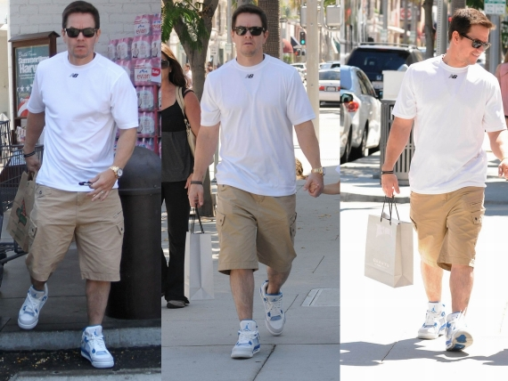 Mark Wahlberg Wears Air Jordan IV Military