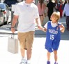 Mark Wahlberg goes shopping with his daughter at Gearys in Beverly Hills, CA on Saturday 070712