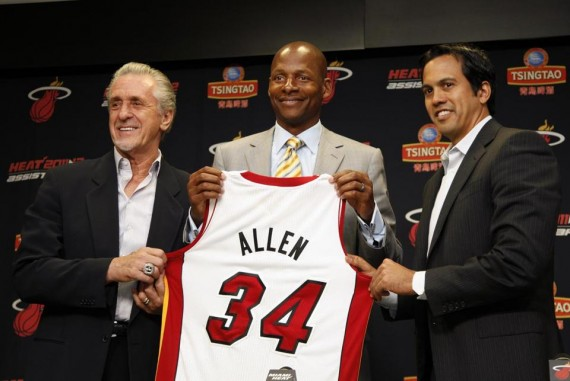 Ray Allen Officially Joins Miami Heat