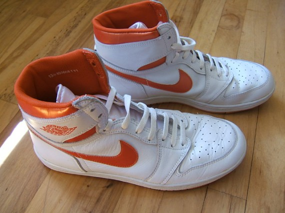The Daily Jordan: Air Jordan 1   White   Metallic Orange   1985 OG