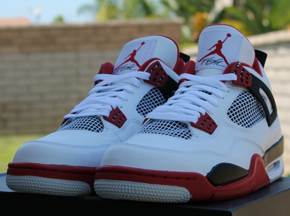 Air Jordan IV: White  Varsity Red  Black | Release Reminder