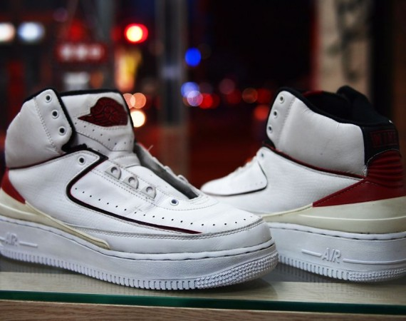 Air Jordan II: Air Force 1 Sole Swap