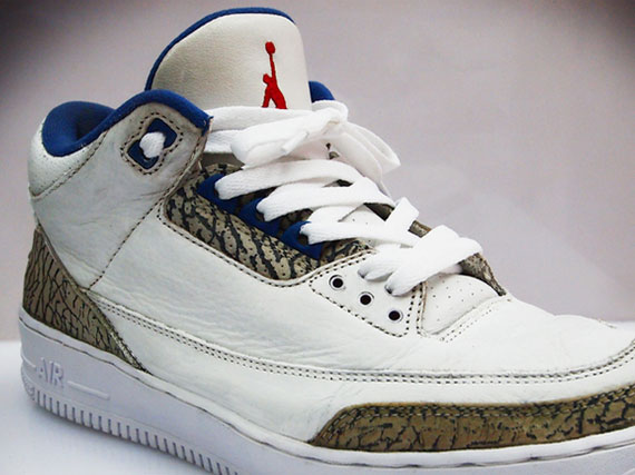 Air Jordan III: True Blue   Nike Air Force 1 Sole Swap