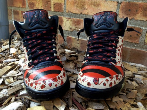 Air Jordan V: Nightmare on Elm Street Customs by DeJesus