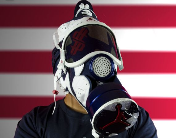 Air Jordan VI Olympic Gasmask by Freehand Profit